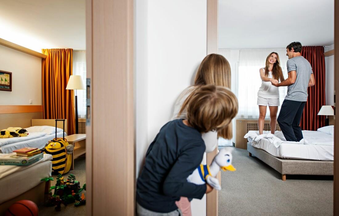 Bled, Garni hotel Savica, obiteljska soba
