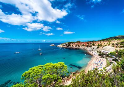 Baleari, Ibiza, plaža Cala d'Hort