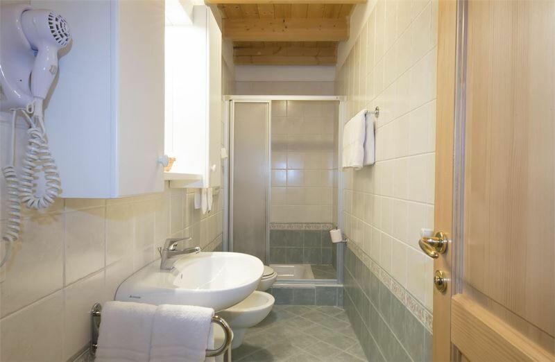 Skijanje u Italiji, Alta Badia, Colfosco, Residence Elisa, primjer kupaone
