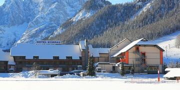 Slovenija, skijanje Kranjska Gora, Hotel Kompas, panorama