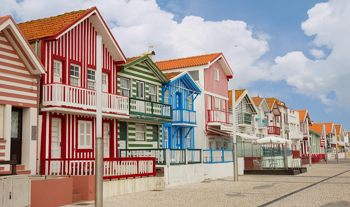 Šarene kuće u Aveiru, putovanje Lisabon i portugalska tura, putovanje zrakoplovom
