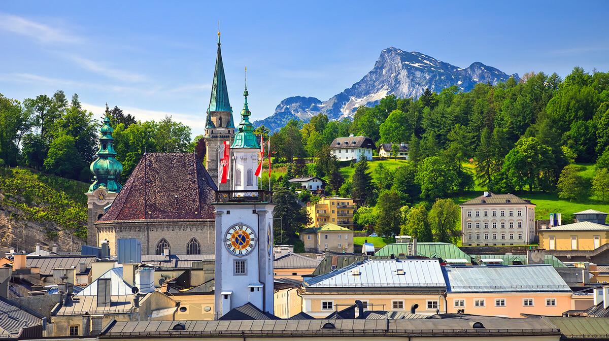 Toranj gradske vijećnice u Salzburgu, putovanje u Salzburg