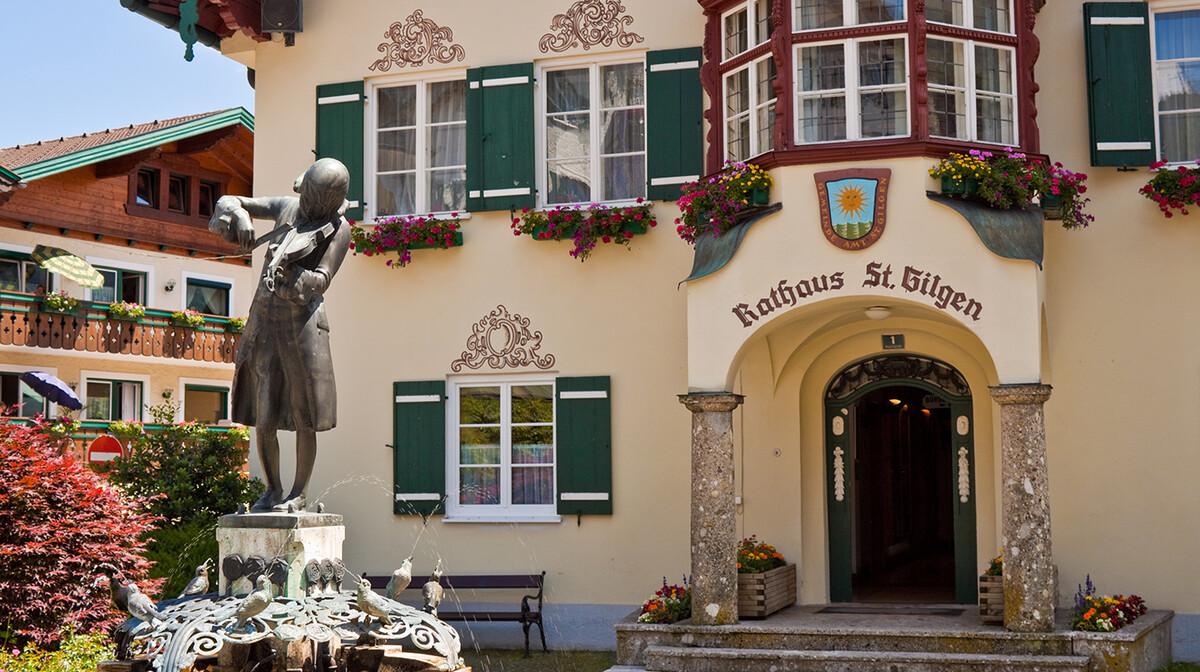 Statua Mozarta u St.Gilgenu, putovanje austrijska jezera, Mondo travel