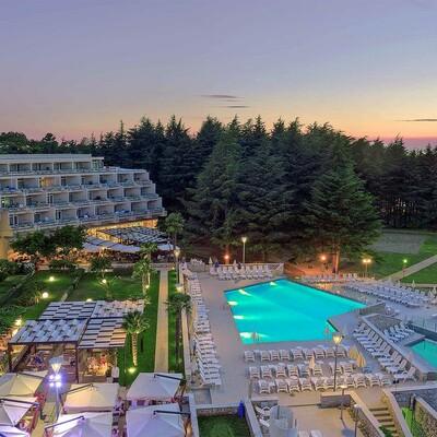 Poreč, Hotel Mediteran, panorama