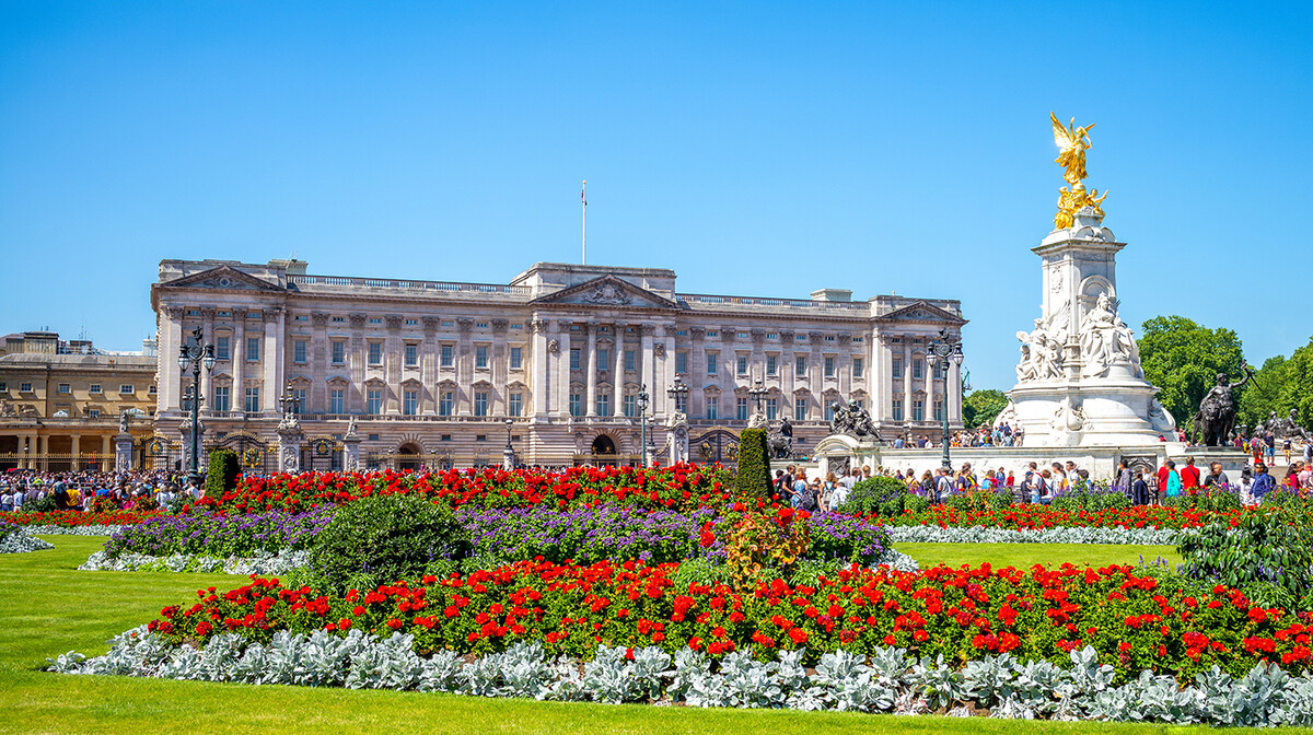 Kraljevska palača Buckingham palace, putovanje u London