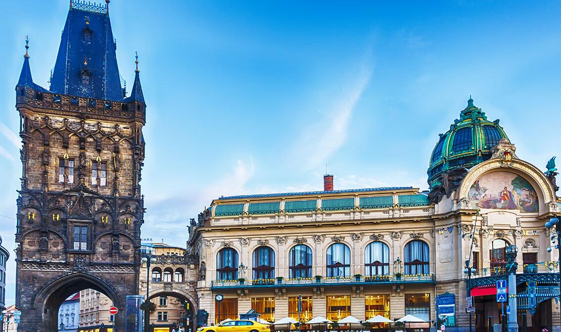 Toranj Praška brana i općinska kuća, putovanje u Prag, garantirani polasci, europa autobusom