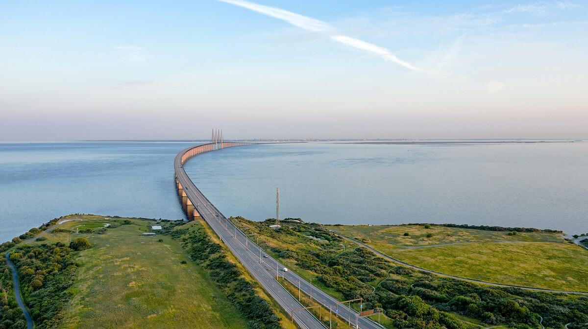 Oresundski most između Švedske i Danske, putovanje Danska i Švedska