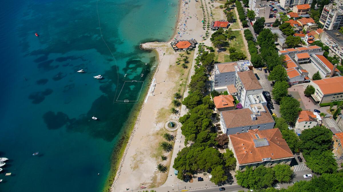 Omiš, Hotel Plaža, panorama