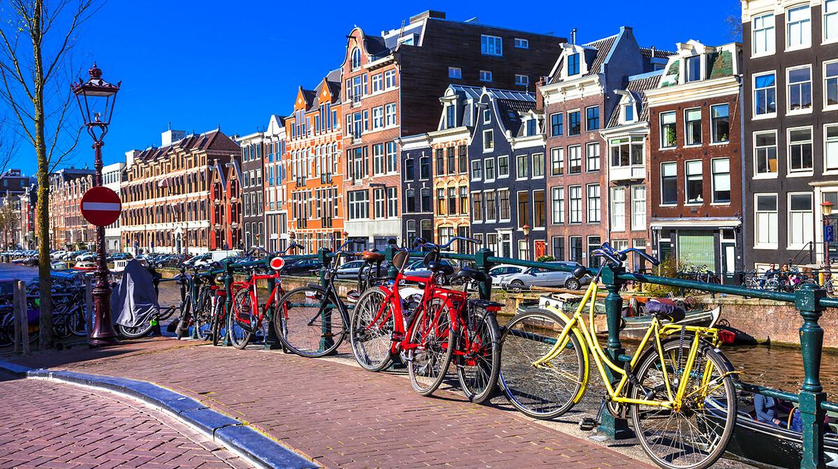 Bicikli na  putovanju u Amsterdam