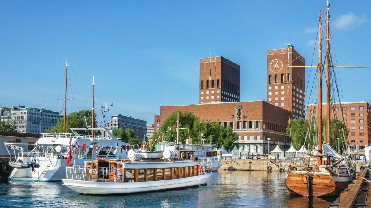 Gradska vijećnica u Oslu, mjesto gdje se održava izbor Nobelove nagrade, putovanje Skandinavija