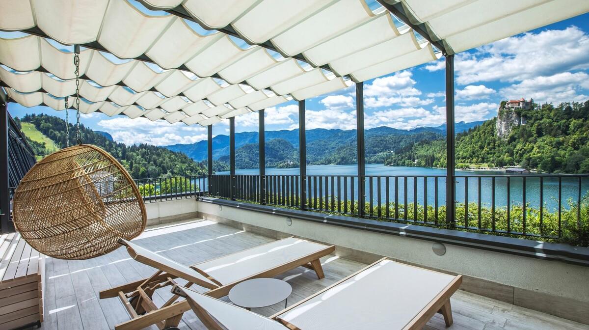 Skijanje i wellness u Sloveniji, Bled, Hotel Park, terasa