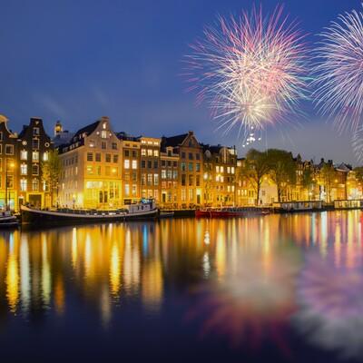 Vatromet nad Amsterdamom, Nova godina u Amsterdamu