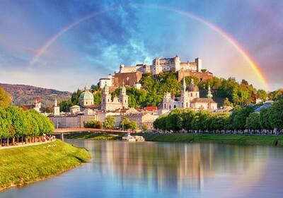 Stari grad Salzburg na 120 m visine iznad Salzburga, putoavanje u Salzburg