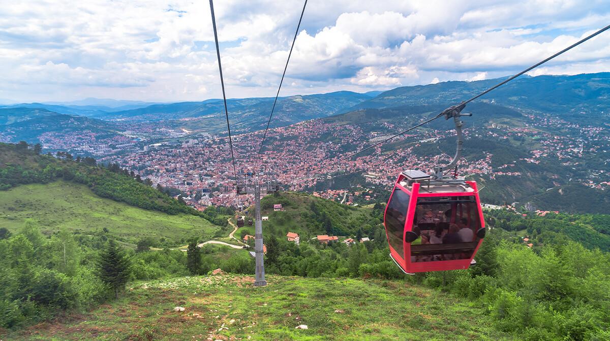 Žičara iz Sarajeva do Trebevića, putovanje u Sarajevo
