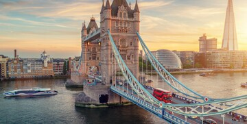 Tower Bridge na putovanju u London