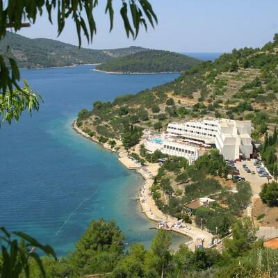 Otok Korčula, Vela Luka, Hotel Adria, panorama