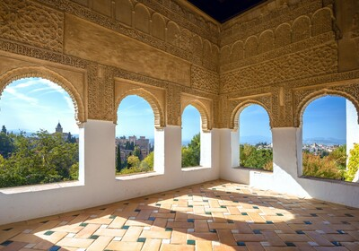 Pogled iz Alhambre, putovanje u Andaluziju