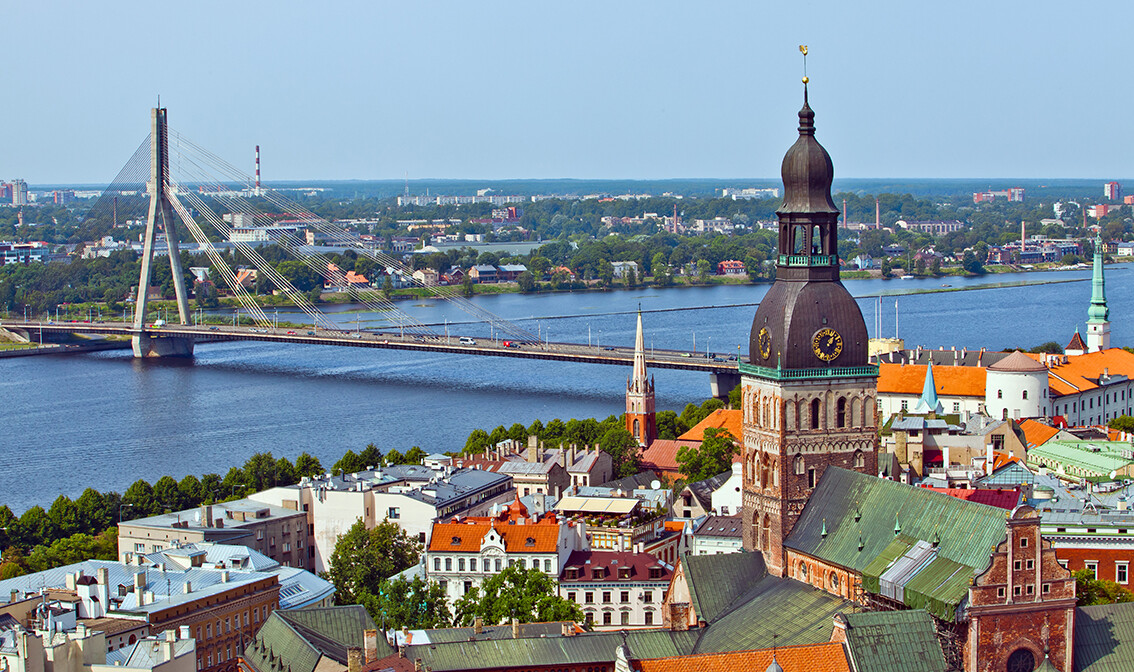 Putovanje Latvija, Riga panorama