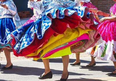 Peru, tradicionalan ples na ulici