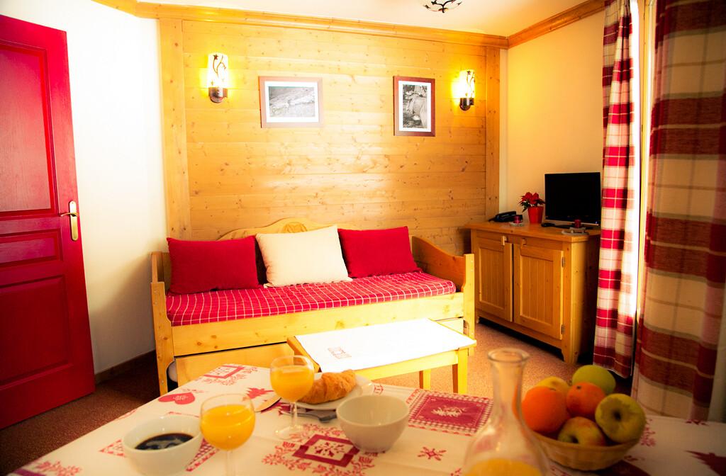 Skijanje u Francuskoj, Val Cenis, Lanslebourg Residence Les Alpages, apartman.