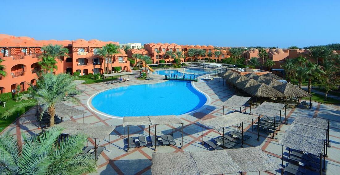 Hurghada zrakoplovom iz ljubljane,  Hotel Jaz Makadi Oasis Resort, bazen i hotel