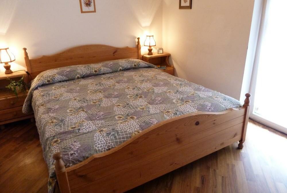 Skijanje u Italiji, Alba di Canazei, Apartmani Casa Canazei, krevet