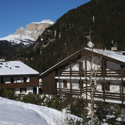 Skijanje u Italiji, Alba di Canazei, Apartmani Casa Canazei, pogled izvana