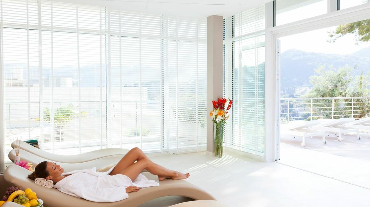 Relax zone u wellness centru hotela Lafodia Sea Beach na otoku Lopudu.