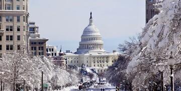 US Capitol pod snijegom putovanje Washington, istočna obala Amerike, Američka tura, daleka putovanja