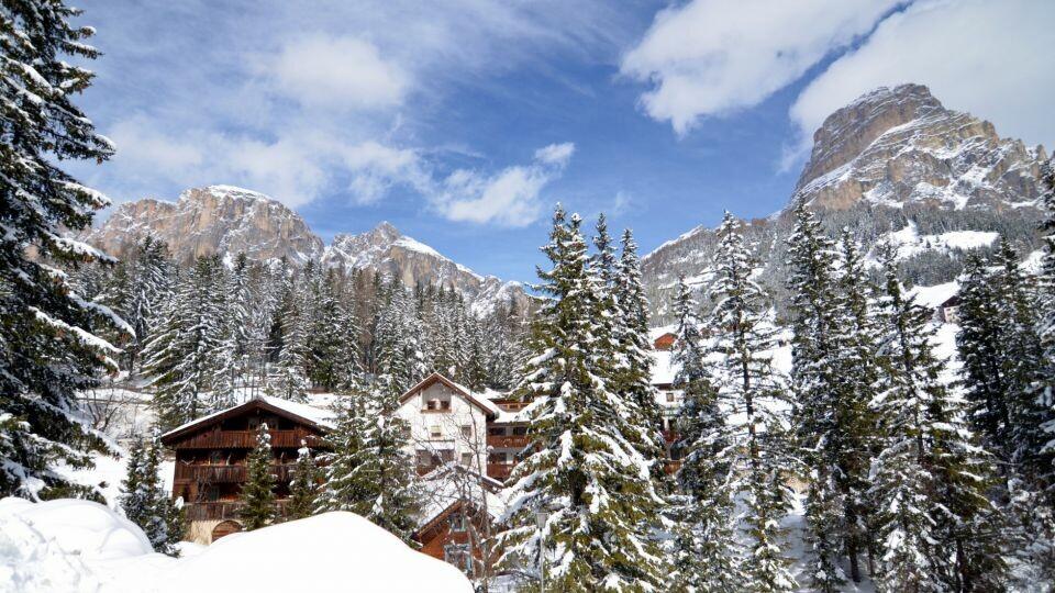 Skijanje u Italiji, Alta Badia, Colfosco, Residence Elisa, pogled izvana