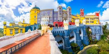 Prekrasna palača Pena na putovanju u Portugal