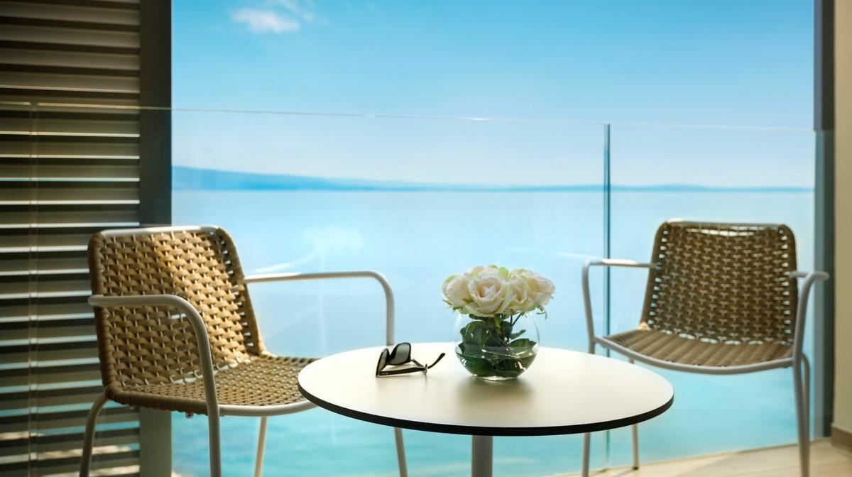 Balkon sobe u hotelu Istra u Opatiji.