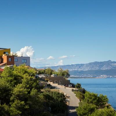 Krk, Vrbnik, Hotel Vinotel Gospoja, panorama