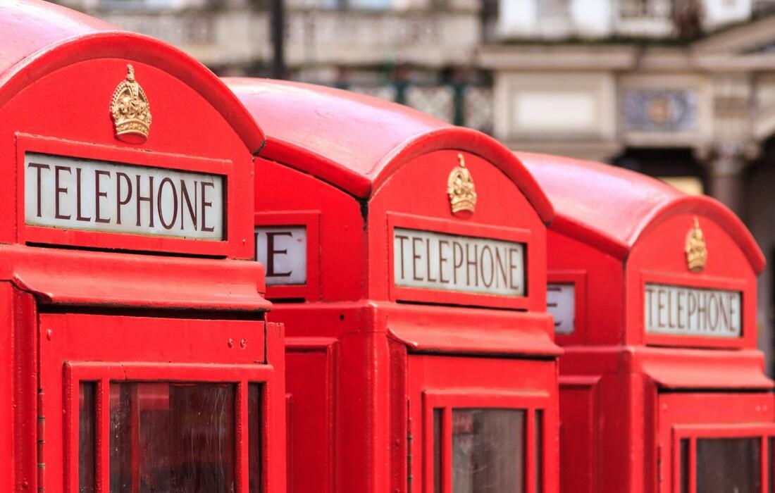 London zrakoplovom, crvene telefonske govornice