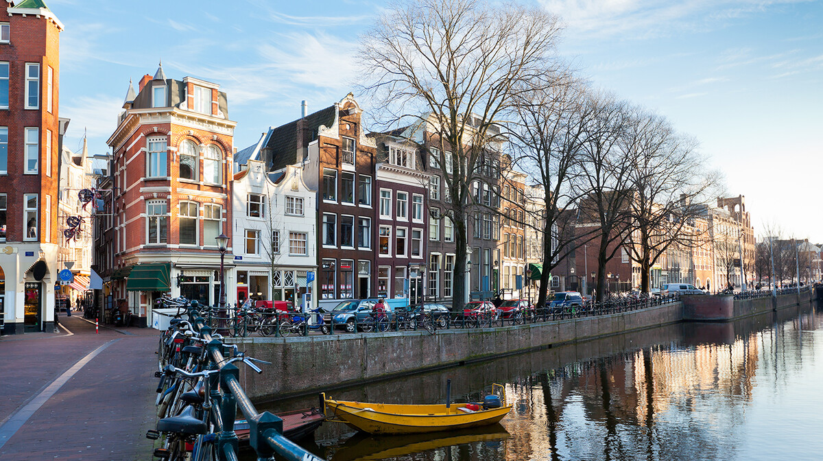 Amsterdamski kanali u zimu, garantirani polazak