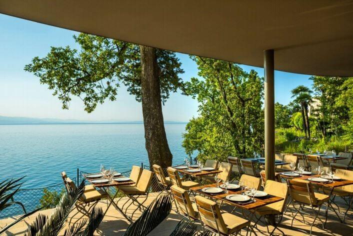 Opatija, GH Adriatic, Pool garden restoran
