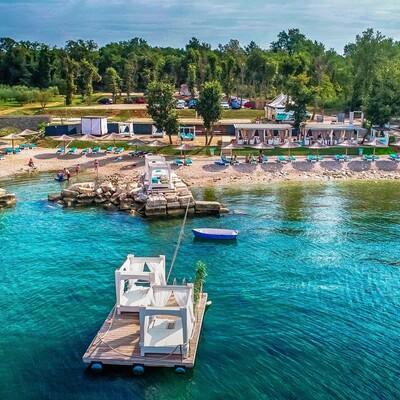 Funtana, Polidor Camping Park, plaža