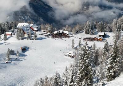 Slovenija, Skijanje Krvavec, zimske kućice za odmor