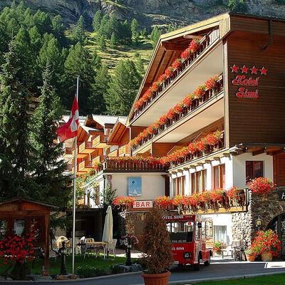 Švicarska, Zermatt, Hotel Simi po ljeti