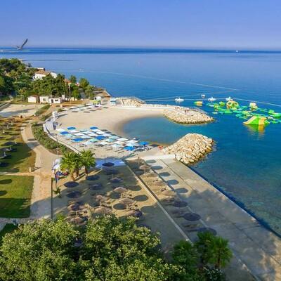 Poreč, Valamar Pinia Hotel, plaža
