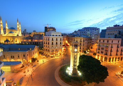 Bejrut, panorama grada noću, putovanje u Libanon, grupni polasci, daleka putovanja
