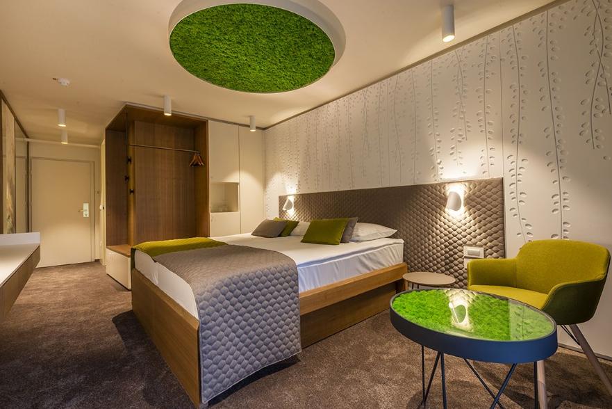 Skijanje i wellness u Sloveniji, Bled, Hotel Park, spavaća soba animacija