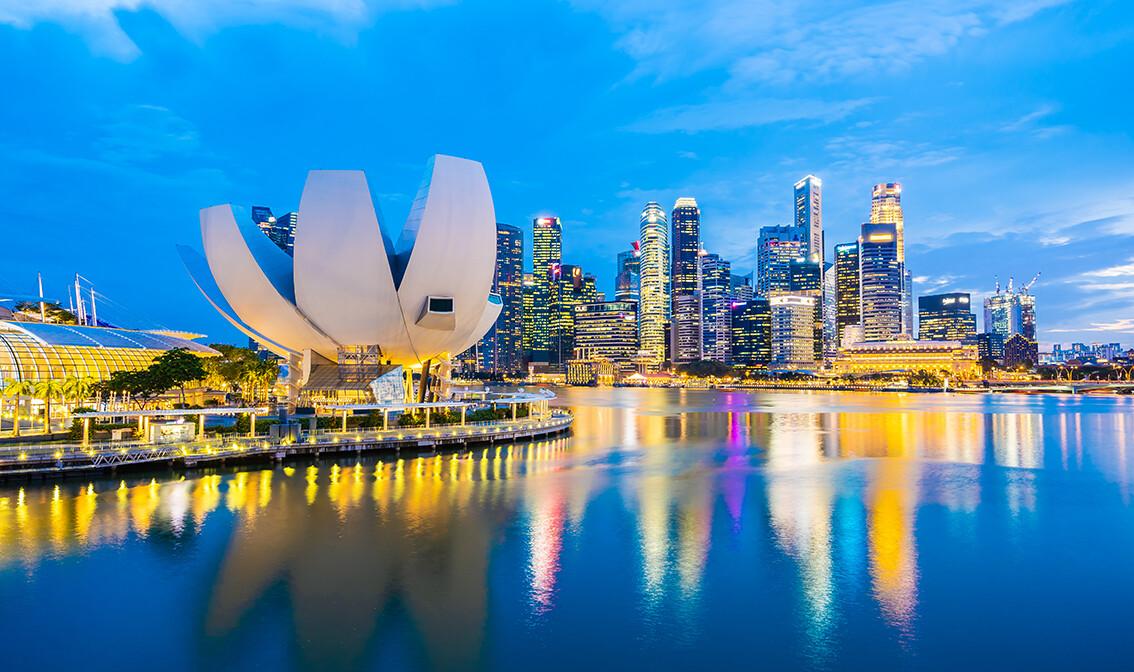 Muzej u oblliku lotusova cvijeta, putovanje Singapur, daleka putovanja