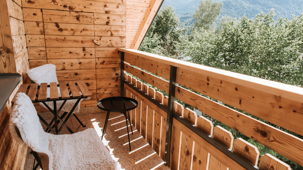 Bohinj,Apartmani Triglav balkon