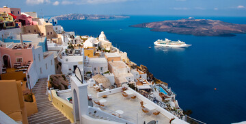 Krstarenje Mediteran, Grčka otok Santorini
