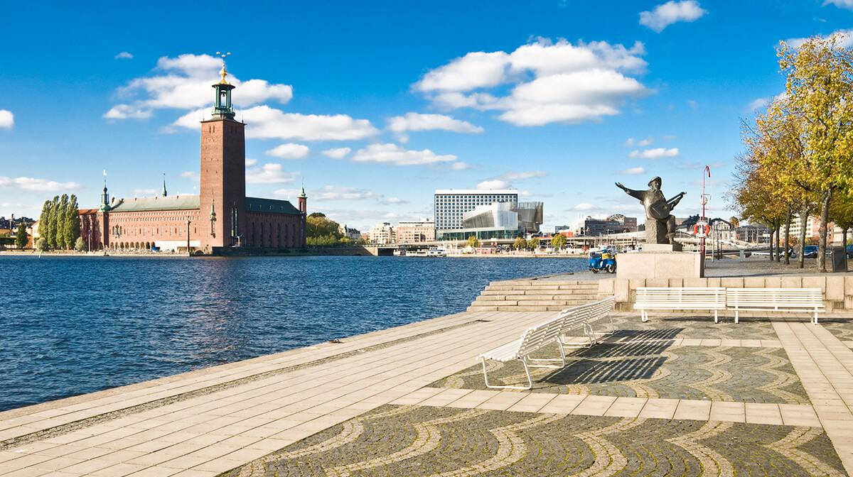 Gradska vijećnica u Stockholmu, putovanje u Stockholm, europska putovanja avionom