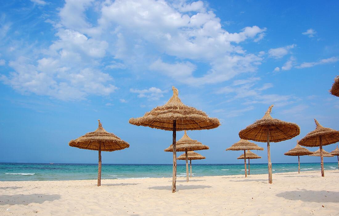 Sousse pješčane plaže, ljetovanje u Tunisu