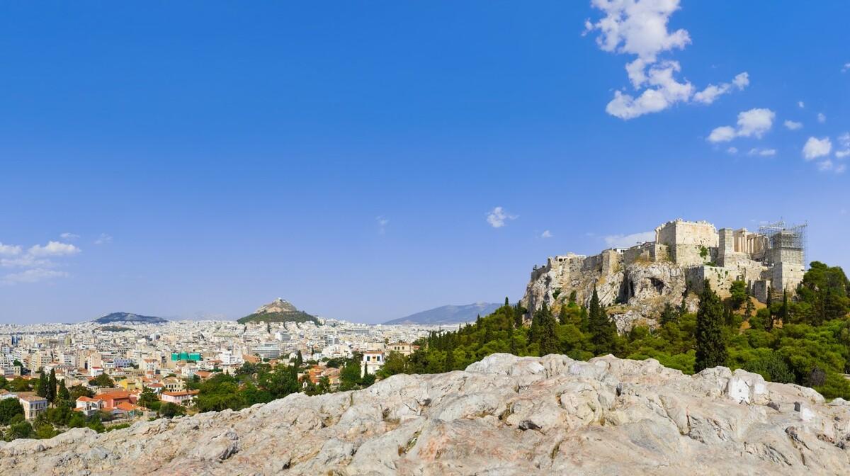 Atena, prekrasan pogled na grad i Akropolu
