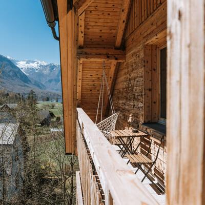 Slovenija, Bohinj, Apartmani Triglav, balkon