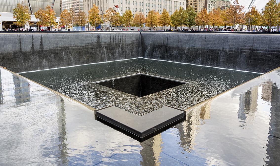 New York, Spomen obilježje NYC-a 9 11 u Svjetskom trgovinskom centru Ground Zero